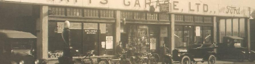 Watney Hall Garage-First Watts Garage 1919_0